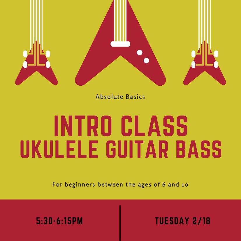 Intro Class Ukulele Guitar Bass