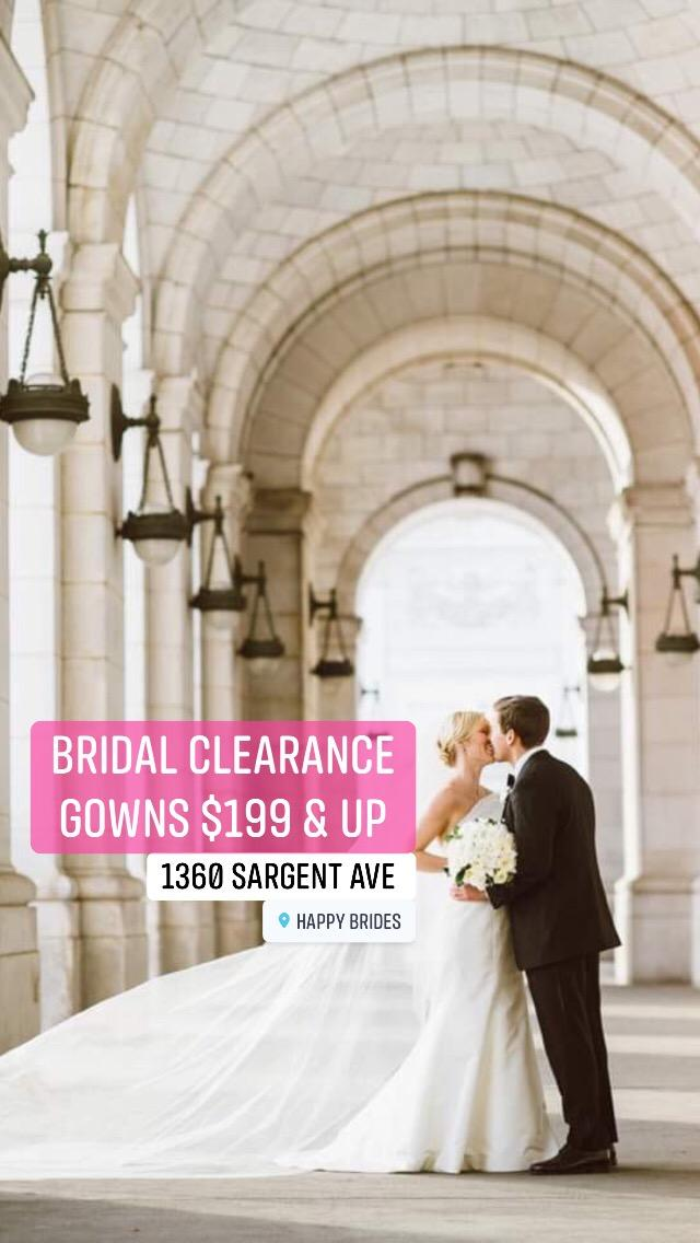 Bridal Clearance Gowns $199 & Up