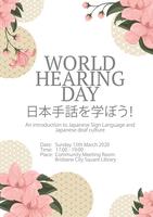 World Hearing Day - JSL Immersion Workshop