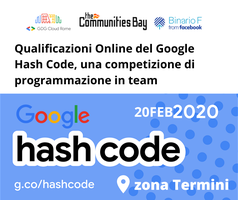 Evento #TheCmmBay Hashcode 2020 di GDG Cloud Roma -...