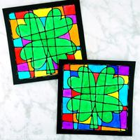 Clover stained glass