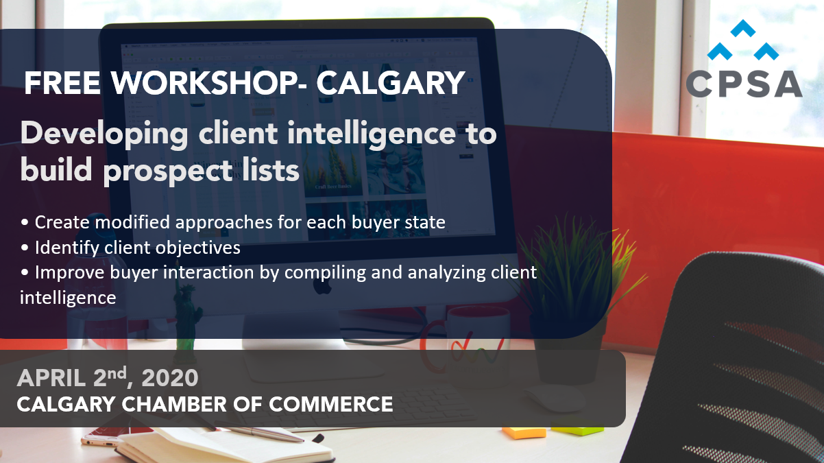 Free Workshop- Calgary: Building Effective Prospect Lists