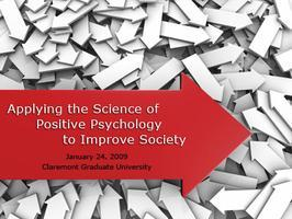 Webcast: Applying the Science of Positive Psychology...