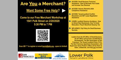 Polk Corridor Free Merchant Seminar