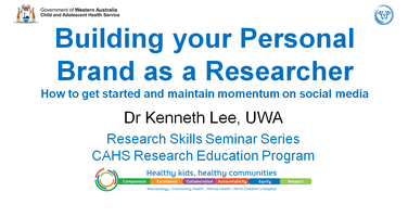 Research Skills Seminar: Building your Personal Brand...