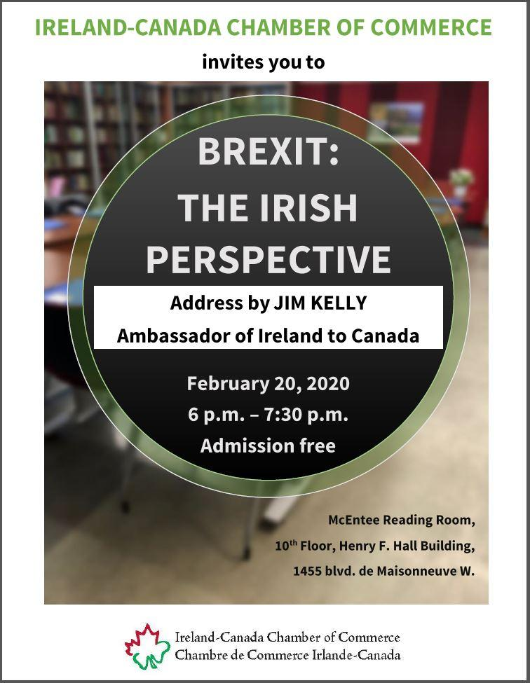 BREXIT: THE IRISH PERSPECTIVE, Address by JIM KELLY Ambassador of Ireland