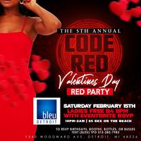 Code Red Valentines Day RED PARTY - 5th Annual