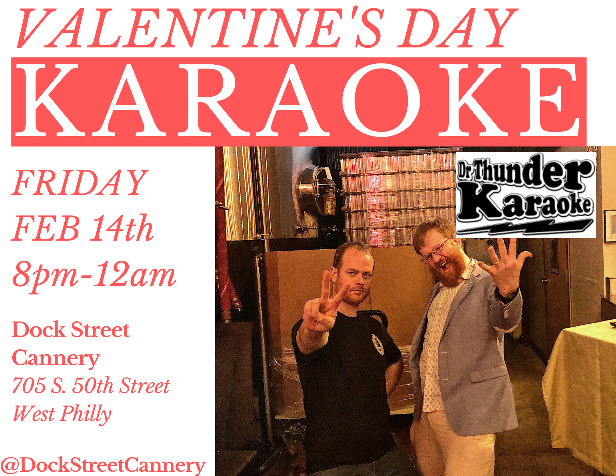 Valentine's Day Karaoke at Dock Street Cannery