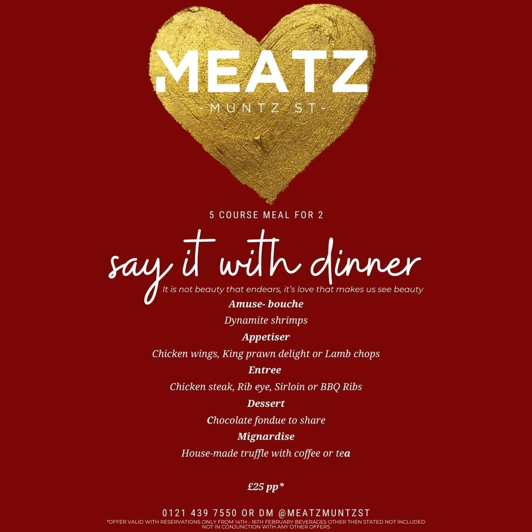Valentines - 'say it with dinner'
