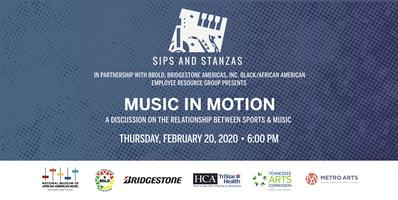 Sips and Stanzas Presents: Music in Motion