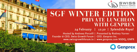 SGF Winter Edition 2020 Luncheon with Genprex in...