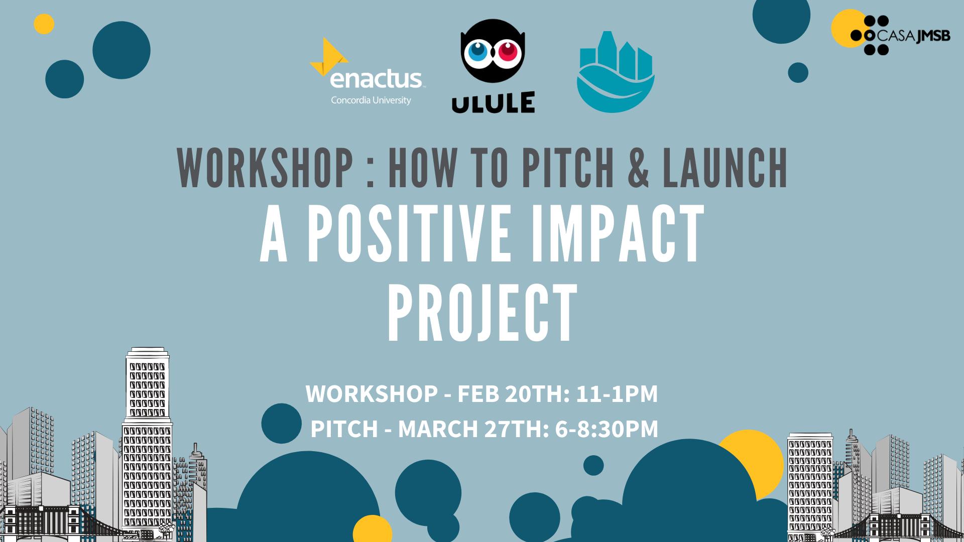 Ulule: Positive Impact Pitch Worshop