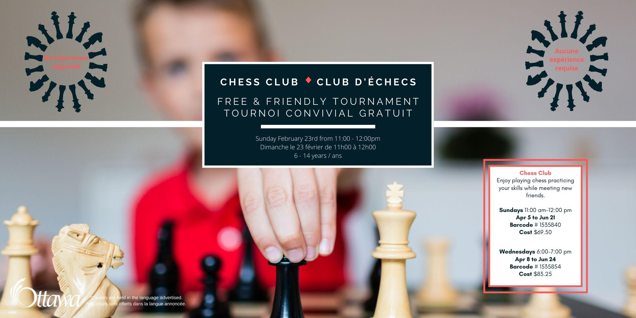 Chess Club Tournament - Tounoi Club d'Échec