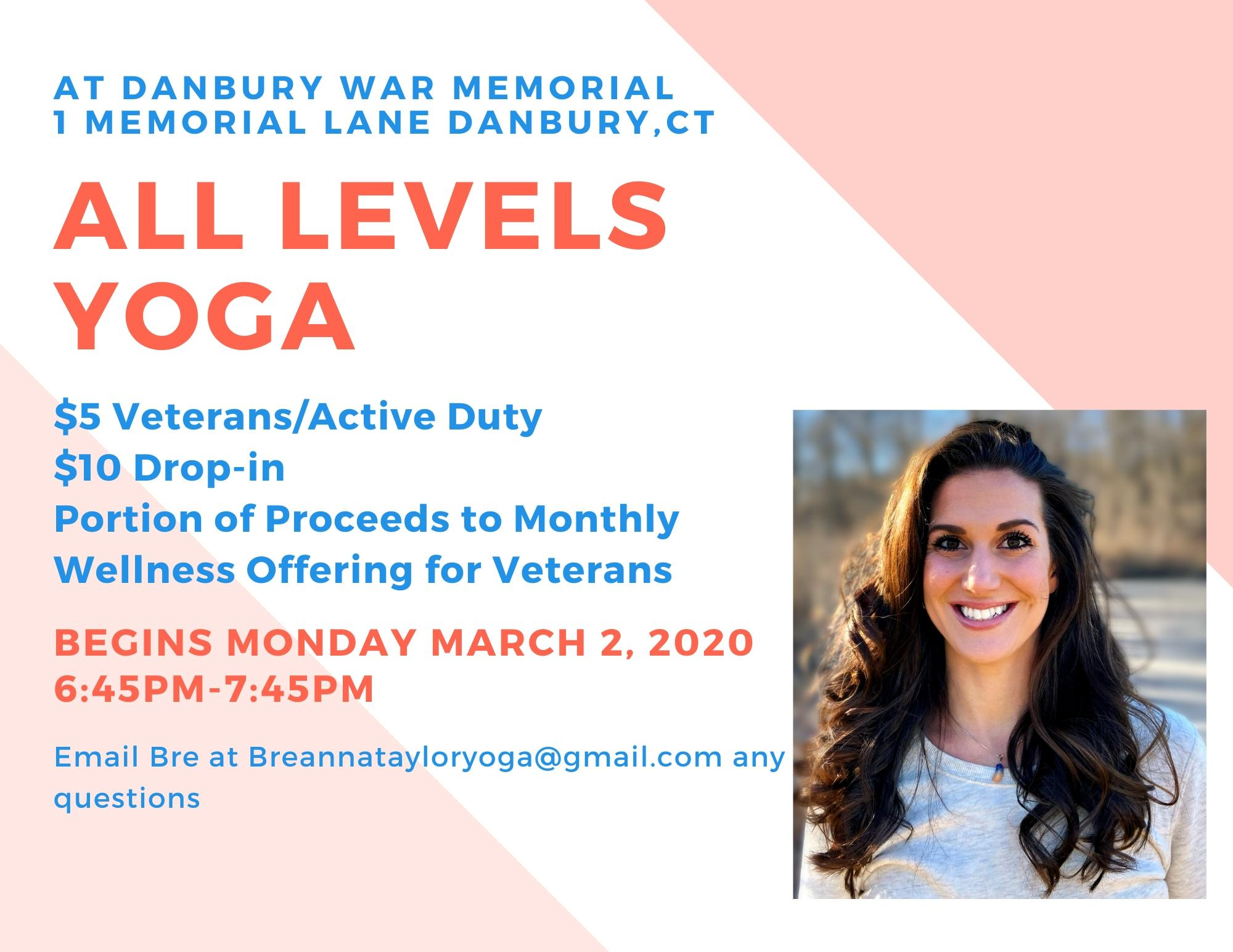 All Levels Yoga for Veteran's Wellness