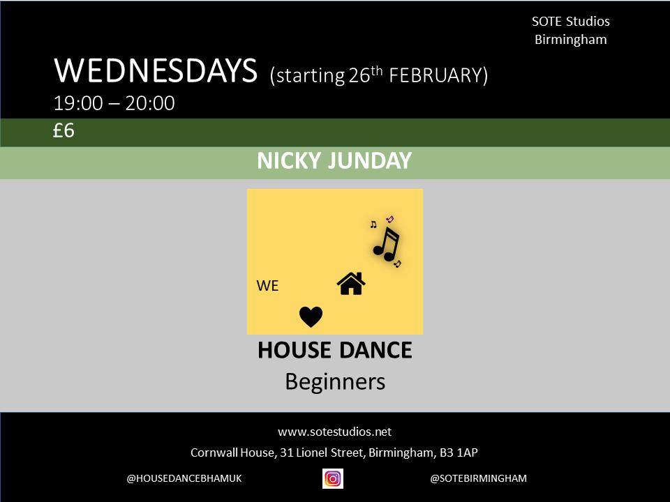 House Dance Class for Beginners