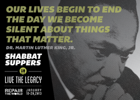 Repair the World Shabbat Suppers: Live the Legacy