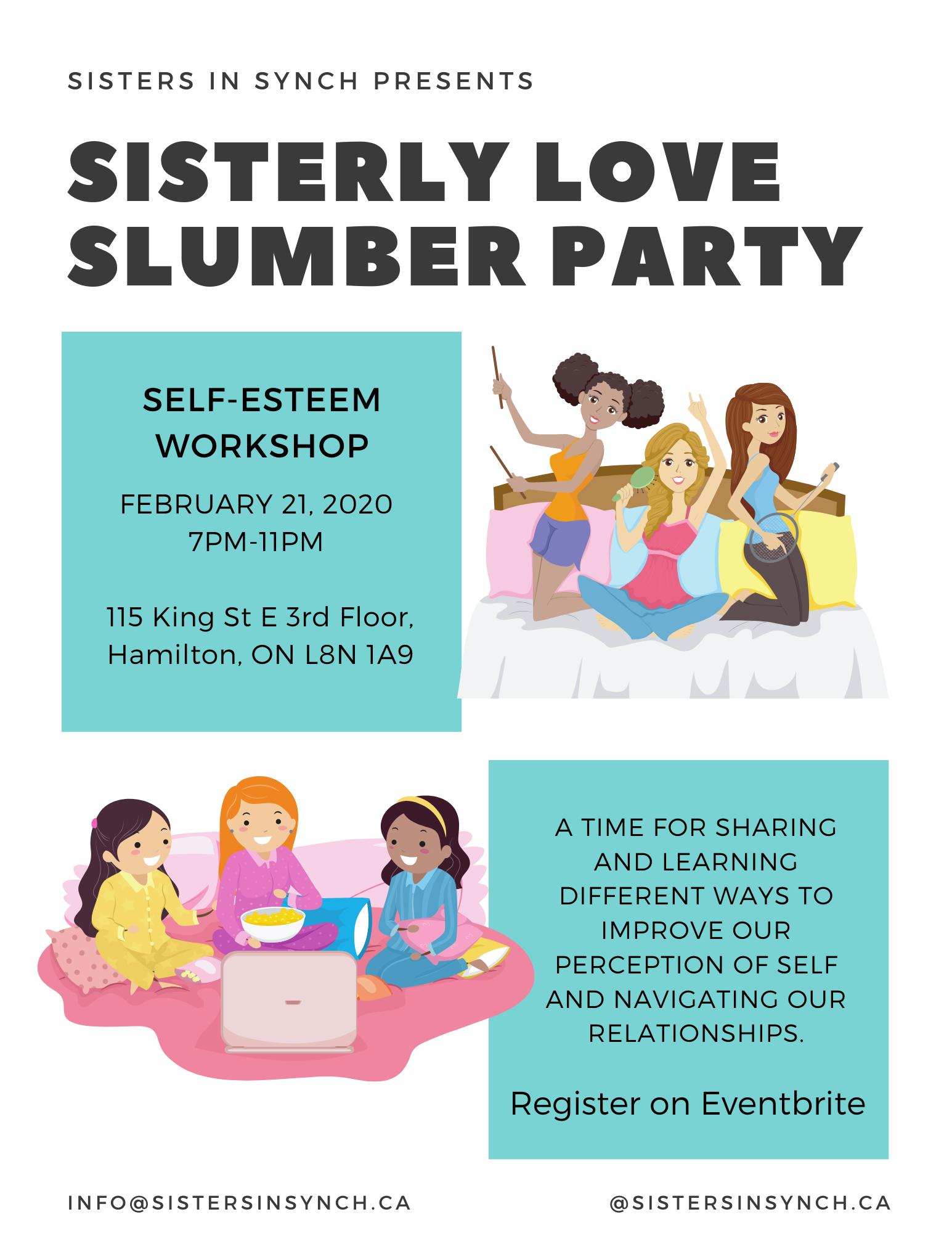 Sisterly Love Slumber Party: Self-Esteem Workshop