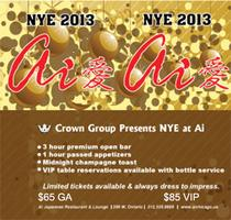 2013 NYE Celebration at Ai Lounge
