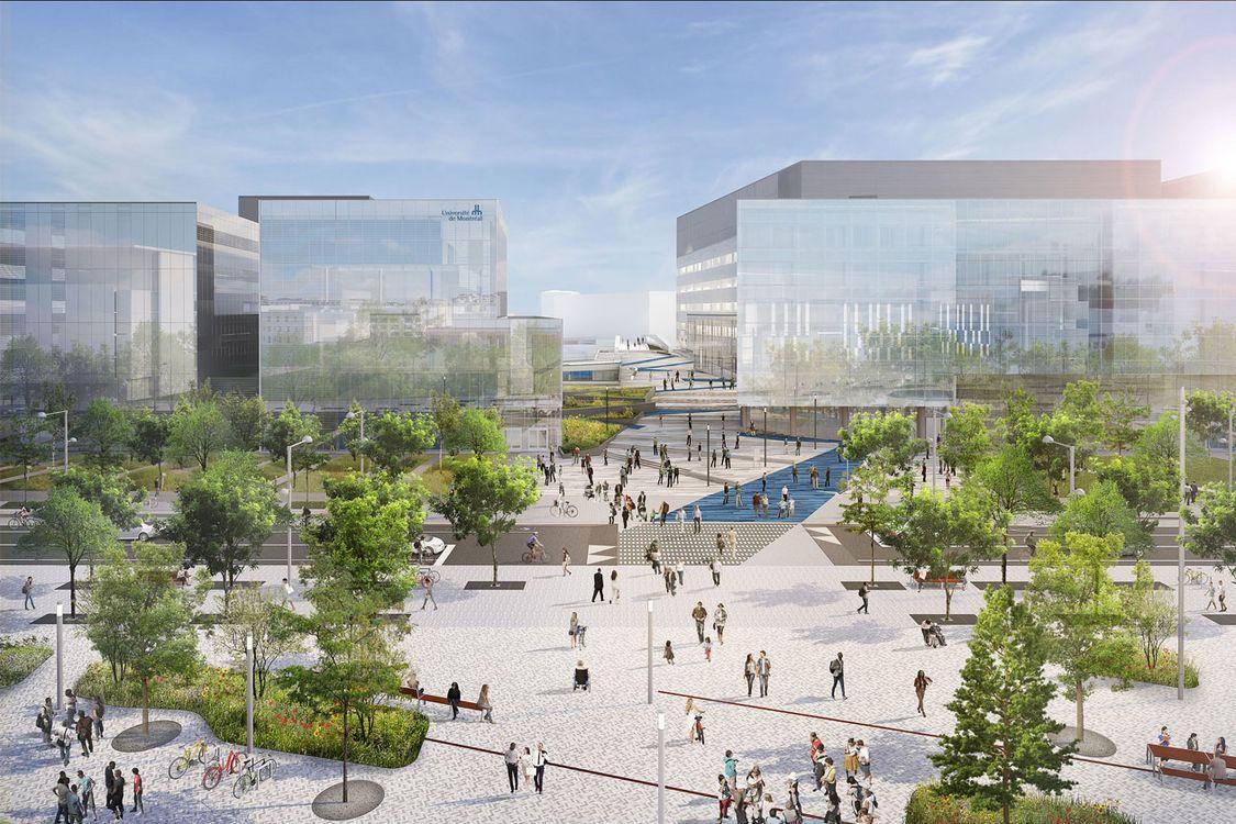 Construction du campus MIL à l'Université de Montreal