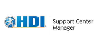 HDI Support Center Manager 3 Days Virtual Live Training in Frankfurt