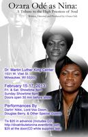 Ozara as Nina: A Tribute 2 NINA SIMONE- FRI SHOW ONLY OTHER...