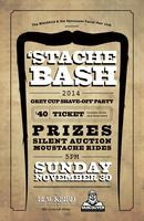 Movember Stache Bash Slash Grey Cup Shave Off Party