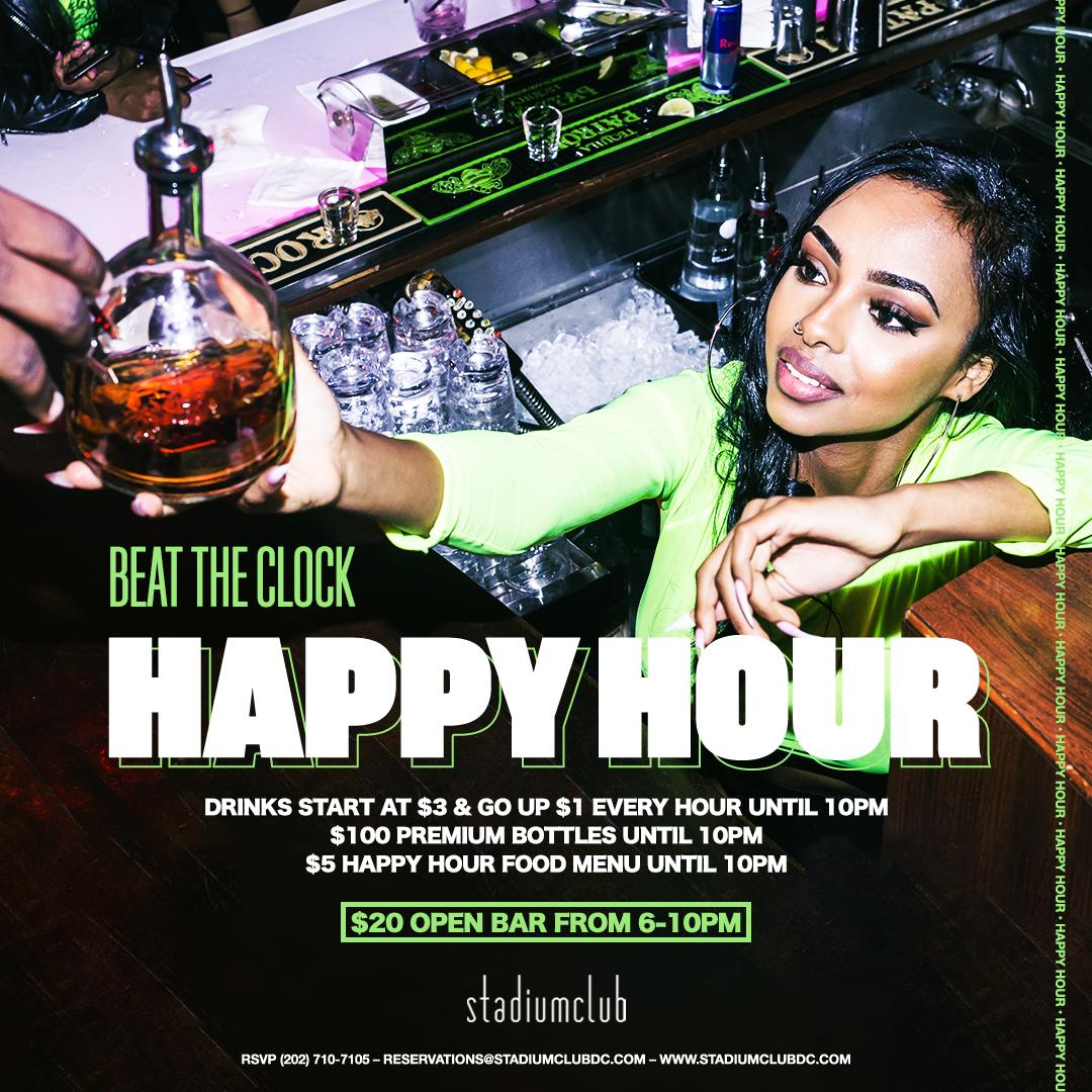 Beat The Clock Happy Hour Fridays