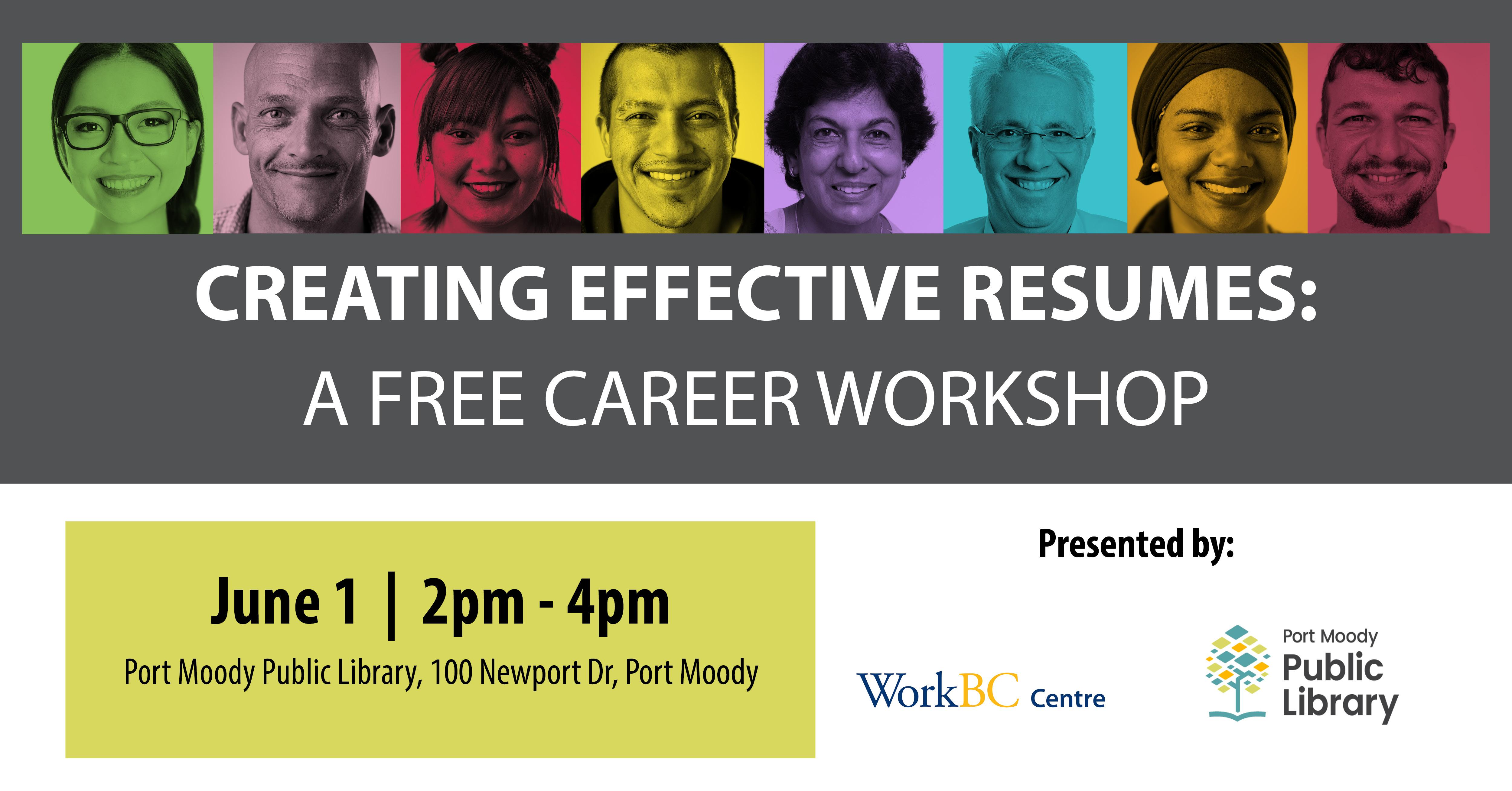 Creating Effective Resumes: A Free Career Workshop (Port Moody)
