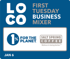First Tuesday Mixer with Salt Spring Coffee and 1% for...