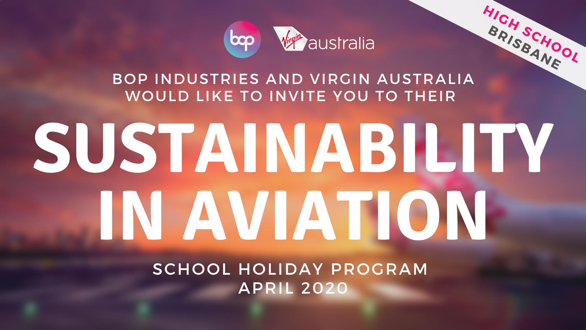 Sustainability In Aviation School Holiday Program With Virgin Australia