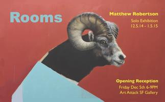 """""""Rooms"""" Solo Exhibition by Matthew Robertson"""