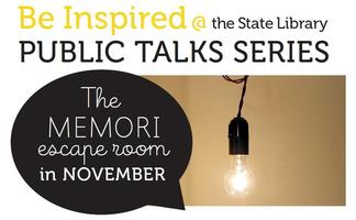 Be Inspired @ the State Library - Public Talk Series -...