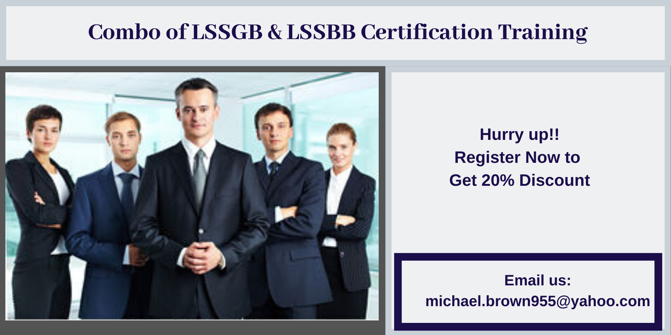 Combo of LSSGB & LSSBB 4 days Certification Training in Arrowsic, ME