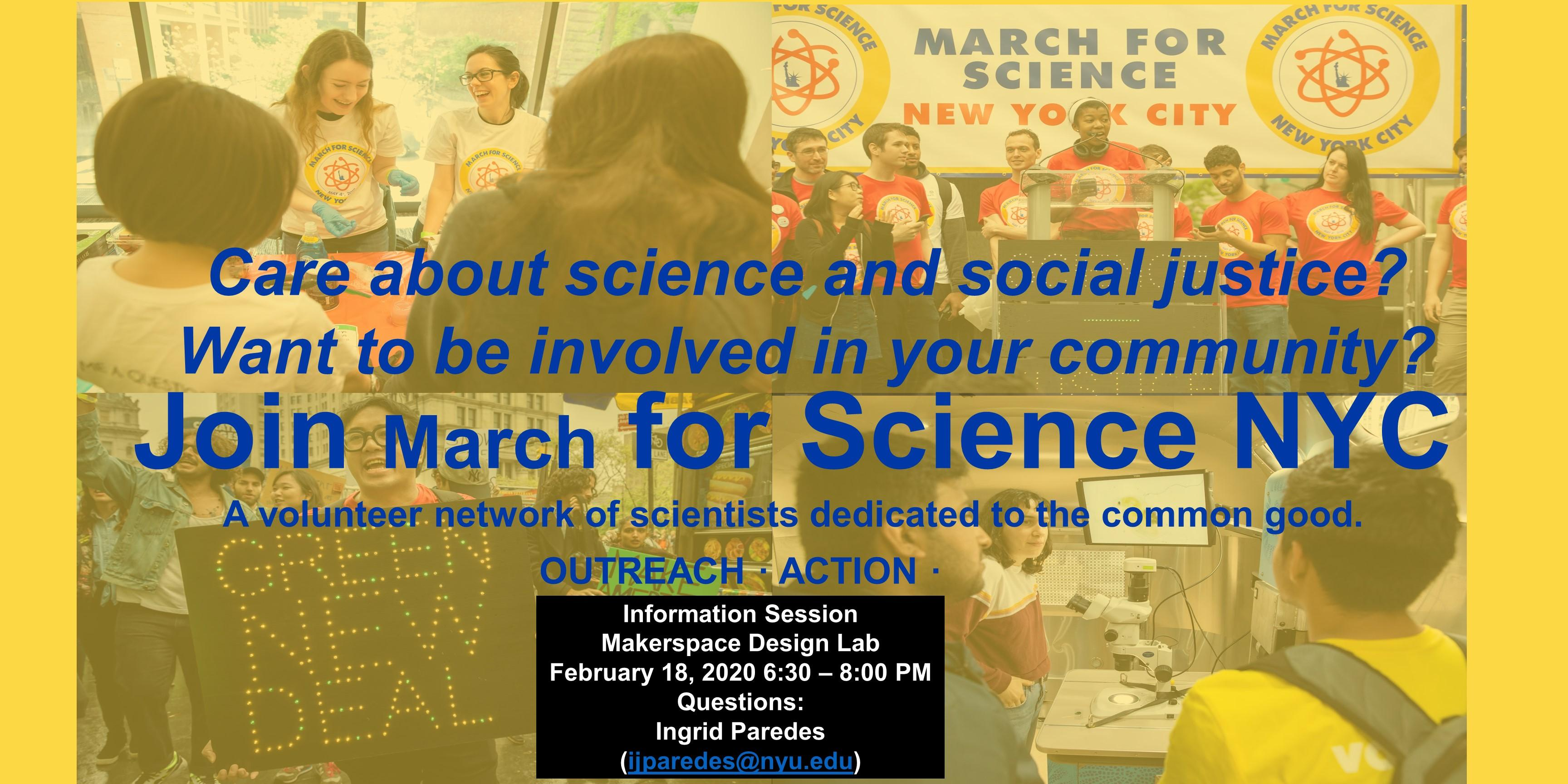 March for Science Info Session