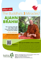 """Dhamma Talk """"What are The Buddha's 3 Miracles?"""" by..."""