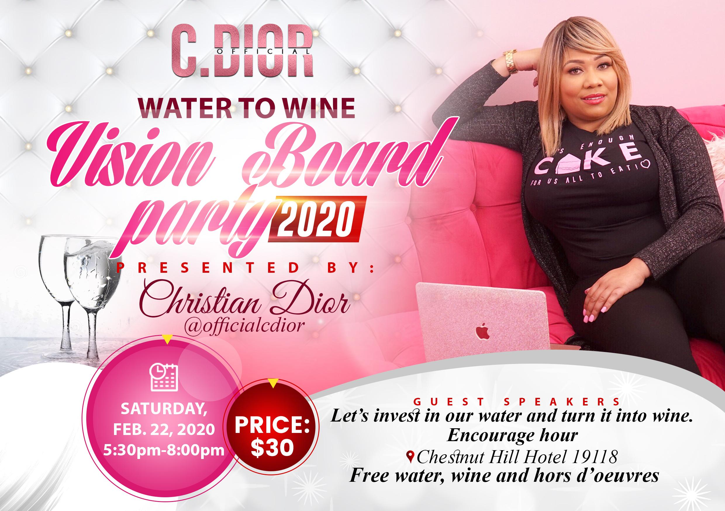 Water to Wine: Vision Board Party
