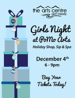 Girls Night @ PoMoArts: Holiday shop, sip and spa