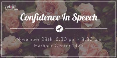 YWIB SFU Confidence in Speech Workshop