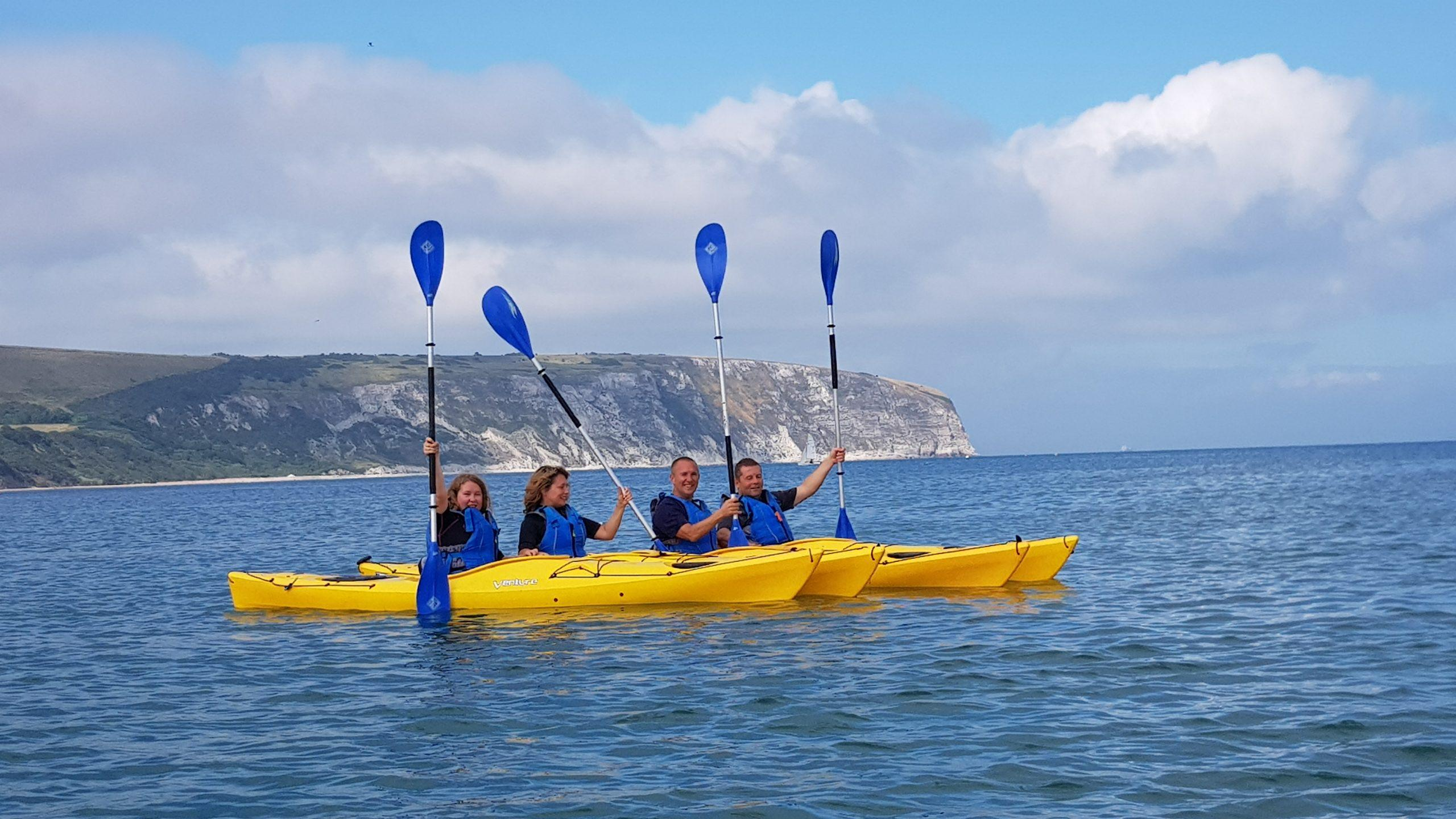 2 hour Swanage Bay kayaking experience