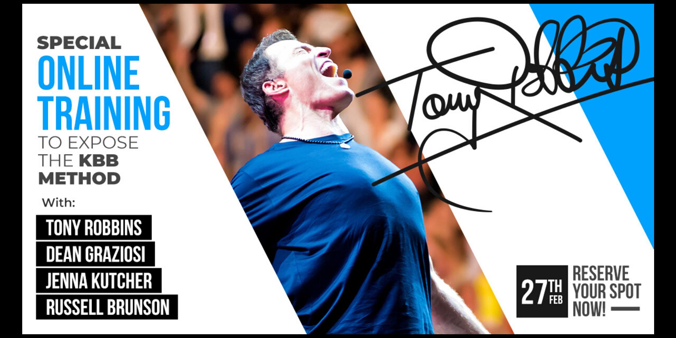 LIVE: TONY ROBBINS & DEAN GRAZIOSI Event! (San Diego) *HAPPENING 2/27/20*