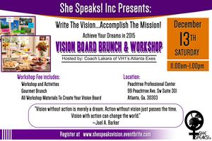 "She Speaks! Inc Presents: ""Write The Vision"" Workshop..."