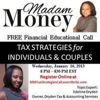 "Madam Money's FREE ""Tax Strategies for Individuals &..."