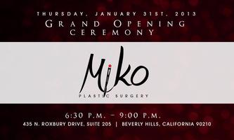 MiKO Plastic Surgery Grand Opening Celebration - Champagne...