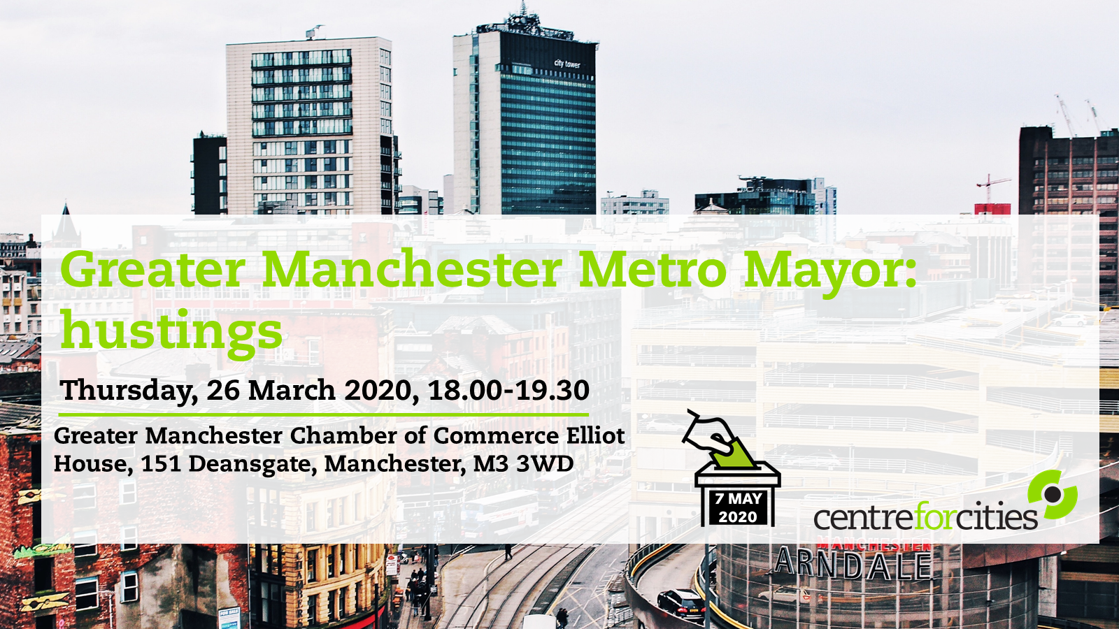 Greater Manchester Metro Mayor Elections 2020- hustings