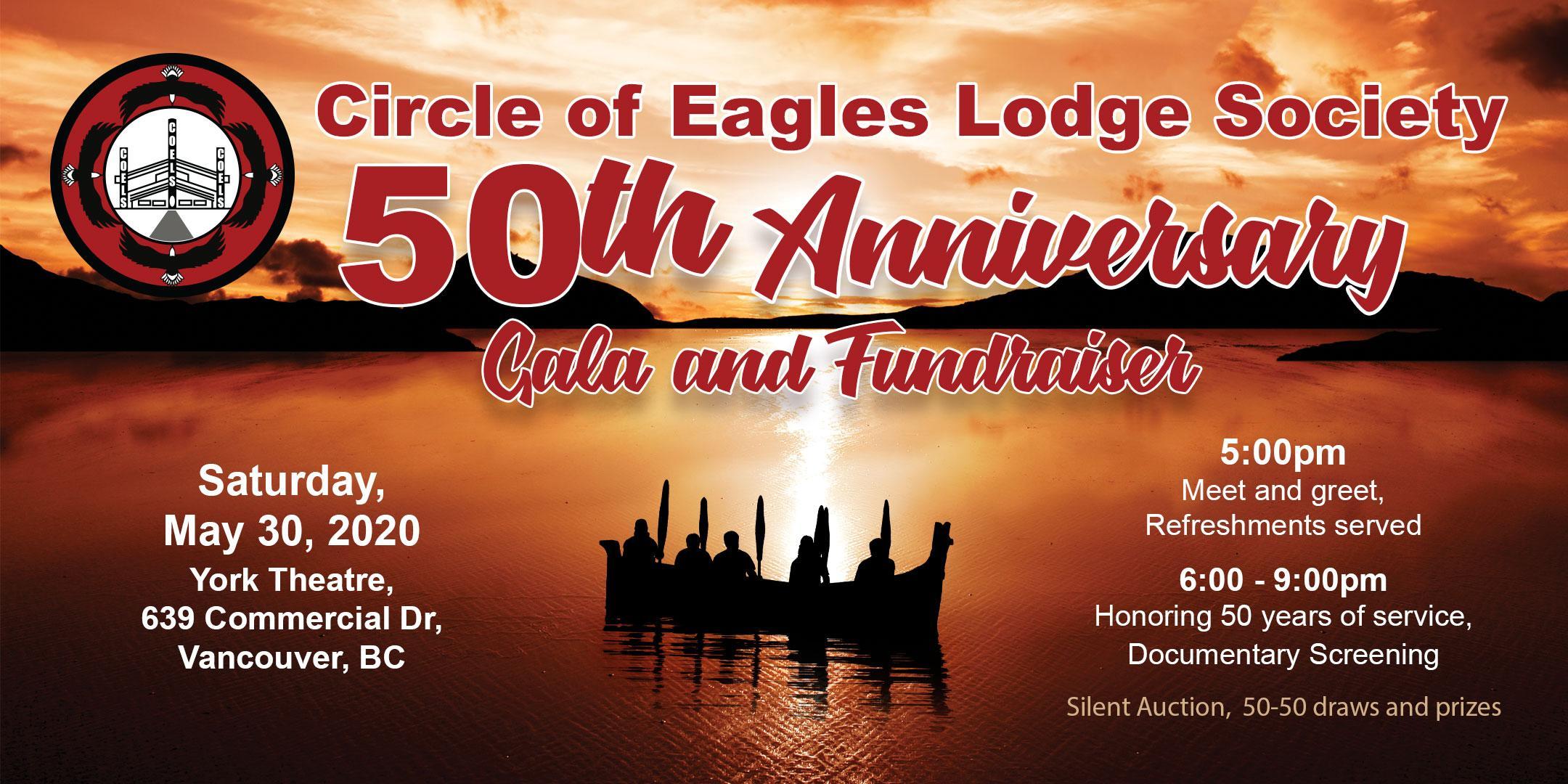 Circle of Eagles Lodge Society - 50th Anniversary Gala and Fundraiser