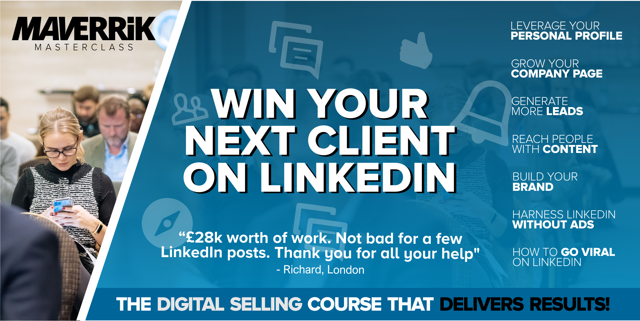 Win your next client on LinkedIn - GLASGOW - Grow your business on LinkedIn