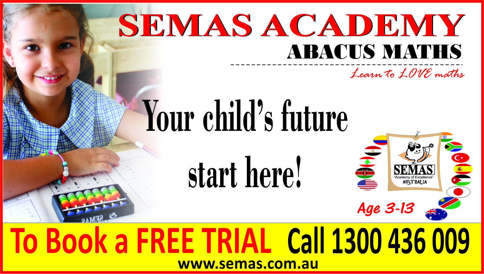 ABACUS MATHS program for 3-4 year olds, preschoolers (free trial)