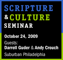Scripture & Culture Seminar with Dr. Darrell Guder and...