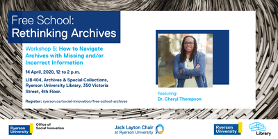 Free School - Workshop 5:  How to Navigate Archives...