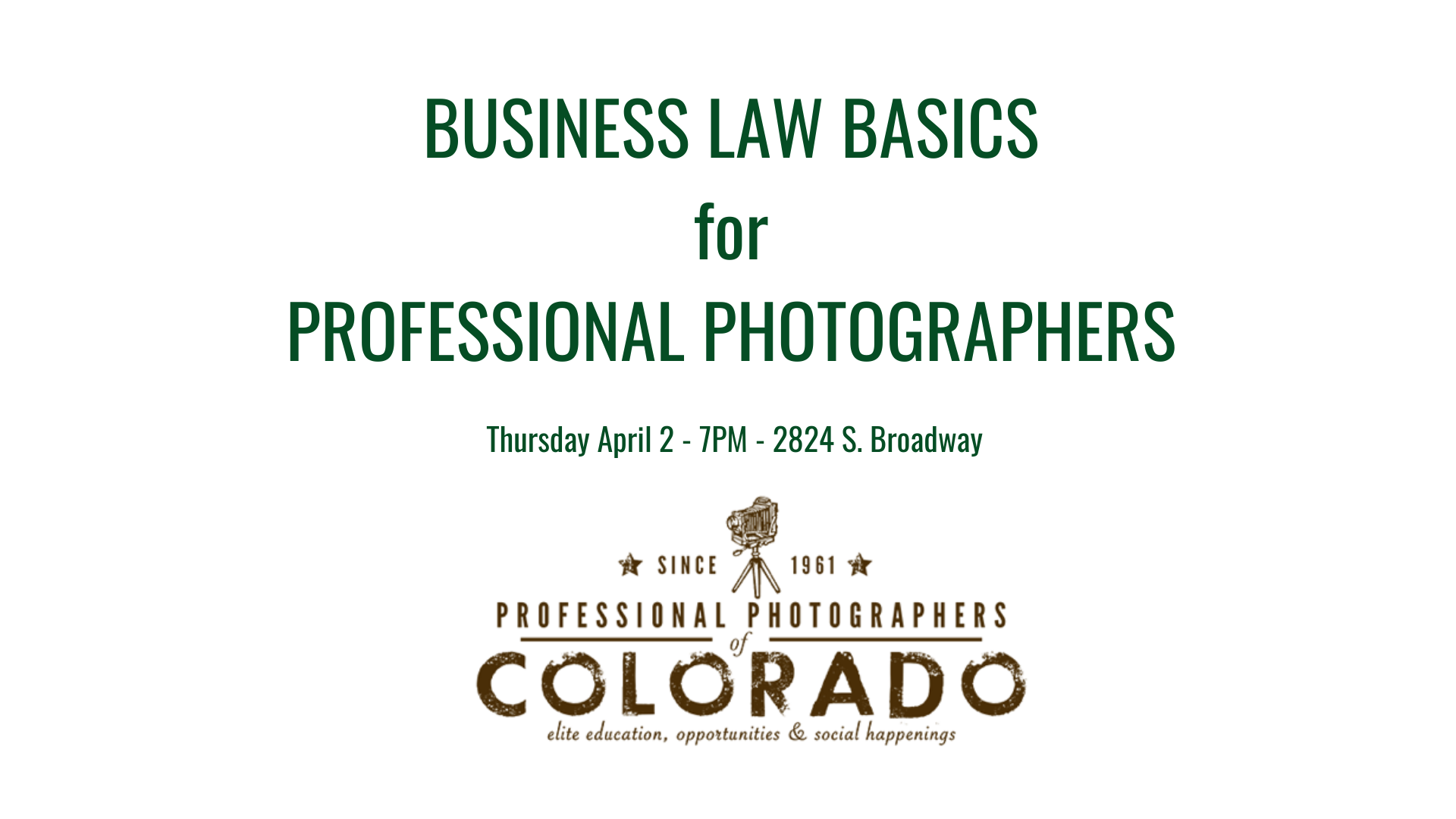 Business Law Basics for Professional Photographers